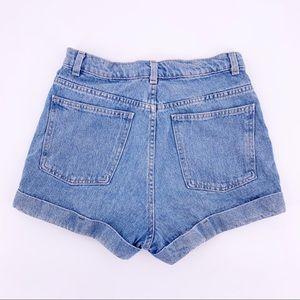 American Apparel Shorts - American Apparel Blue High Waist Jean Shorts Sz 28